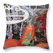Orange Squash Throw Pillow
