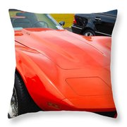 Orange Stingray Throw Pillow