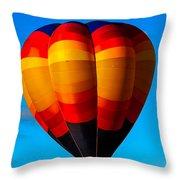 Orange Stipped Hot Air Balloon Throw Pillow