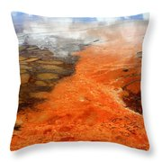 Orange Stones Throw Pillow