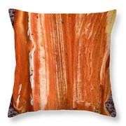 Campfire On A Snowy Night Throw Pillow