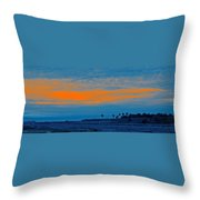 Orange Sunset Throw Pillow