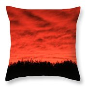 Orange Sunset Glow Throw Pillow