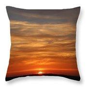Orange Sunset Throw Pillow