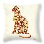 Orange Tabby - Animal Art Throw Pillow
