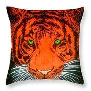 Orange Tiger Throw Pillow