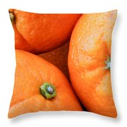 Orange Trio Throw Pillow