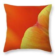 Orange Tulip Petal Detail Throw Pillow