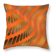 Orange Wave Throw Pillow