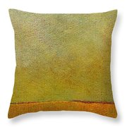 Orange With Red And Gold Throw Pillow