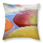 Orange Yellow Red Green And Some Water Throw Pillow