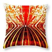 Orange Zest Throw Pillow