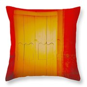 Orangeness Throw Pillow