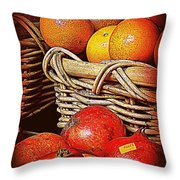Oranges And Persimmons Throw Pillow
