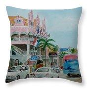 Oranjestad Aruba Throw Pillow