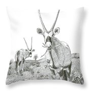 White Sands Orax  Throw Pillow