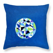 Orb - Prismatic Blue Throw Pillow