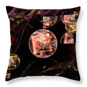 Orbs Of Infinity Throw Pillow