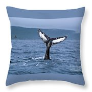 Orca Bitemarks On Humpback Tail Throw Pillow