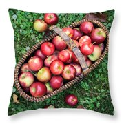 Orchard Fresh Picked Apples Throw Pillow