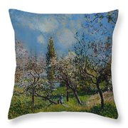Orchard In Spring Throw Pillow
