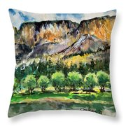 Orchard In The Valley Throw Pillow