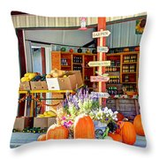 Orchard Valley Market Throw Pillow