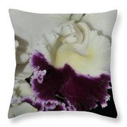 orchid 221 Cattleya Moscombe 'The King'  1 of 3 Throw Pillow