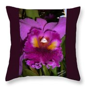 Orchid Flames Throw Pillow