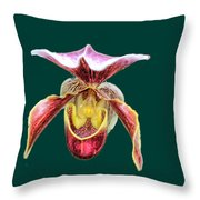 Orchid Alone Throw Pillow