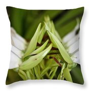 Orchid Arms Throw Pillow