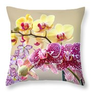 Orchid Art Prints Orchids Flowers Floral Bouquets Throw Pillow