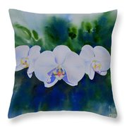 Orchid Blast Throw Pillow