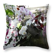 Orchid Branch Throw Pillow