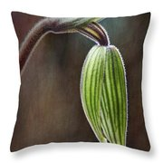 Orchid Bud Throw Pillow