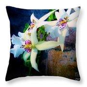 Orchid Cascade Throw Pillow