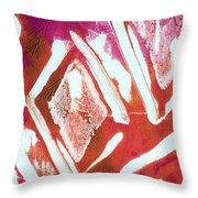 Orchid Diamonds- Abstract Painting Throw Pillow by Linda Woods