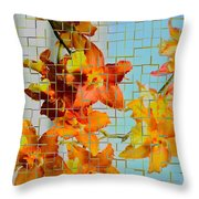 Orchid Drapes Throw Pillow