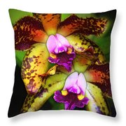 Orchid Elegance Throw Pillow