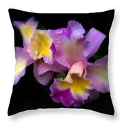 Orchid Embrace Throw Pillow