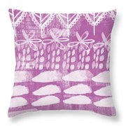 Orchid Fields Throw Pillow