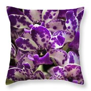 Orchid Grouping Throw Pillow