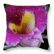Orchid Heart And Soul Throw Pillow