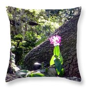Orchid In Tree 2 Throw Pillow