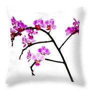Orchid In White  Throw Pillow