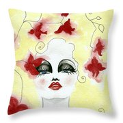 Orchid Lady Throw Pillow