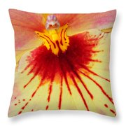 Orchid Of Color Throw Pillow