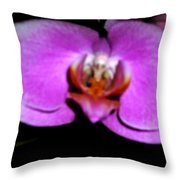 Orchid One Throw Pillow