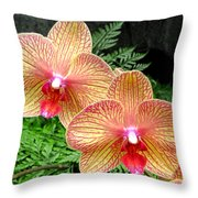 Orchid Pair Throw Pillow