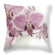 Orchid Pink Vintage Throw Pillow